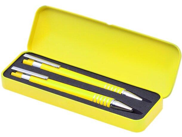 Estuche de bolígrafo y portaminas blanco barato