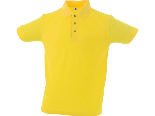 Polo manga corta tejido mixto de hombre 220 gr personalizado amarillo