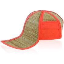Gorra plegable de paja en diversos colores personalizada