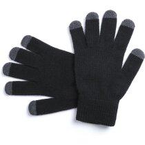 Guante con dedos táctil para adultos negro