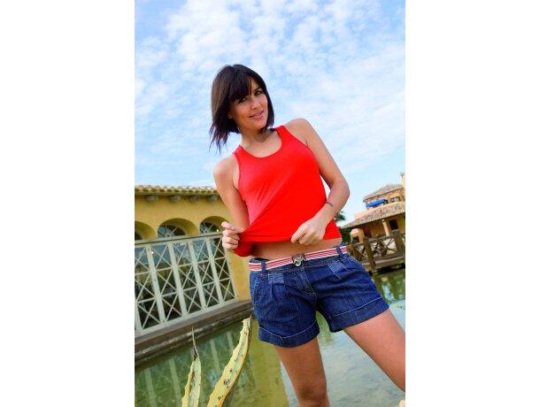 Camiseta de tirantes de mujer roja