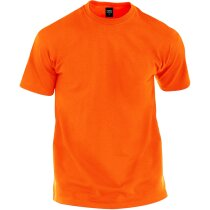 Camiseta tallas adulto 135 gr color personalizada naranja