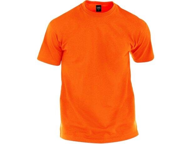 Camiseta tallas adulto 135 gr color personalizada naranja
