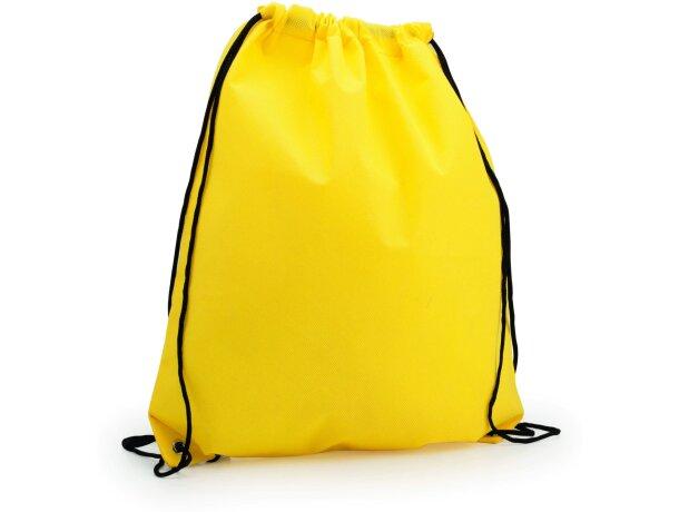 Mochila con cordones y esquinas reforzadas personalizada amarilla