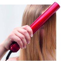 Plancha de pelo personalizada roja