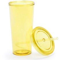 Vaso de plastico transparente de colores