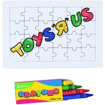 Puzzle 24 piezas y 4 ceras
