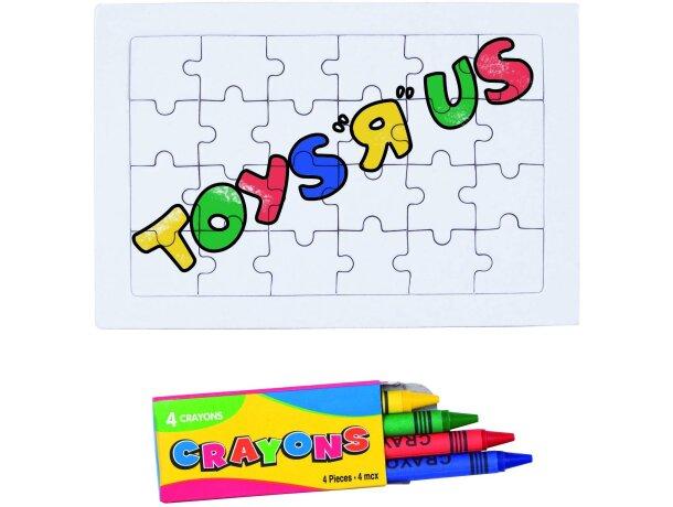 Puzzle 24 piezas y 4 ceras personalizada