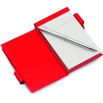 Bloc de notas con bolígrafo de aluminio personalizada
