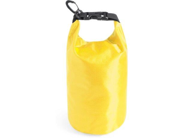Bolsa plegable con gancho personalizado amarillo