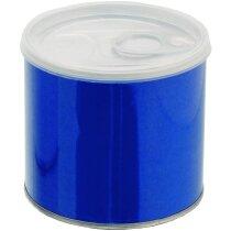 Hucha metálica en forma de lata grabada