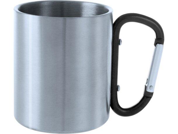 Taza de acero inoxidable 200 ml con mosquetón