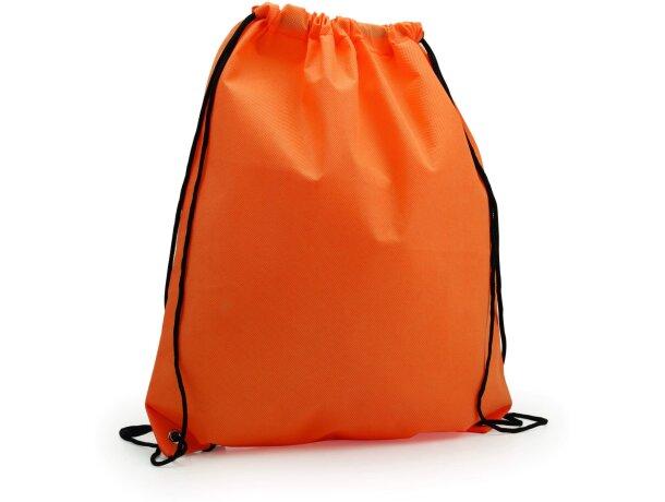 Mochila con cordones y esquinas reforzadas personalizada naranja