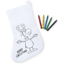Calcetín de Navidad para colorear personalizado