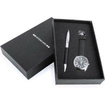 conjunto de bolígrafo con reloj de muñeca de la marca Antonio Miró personalizado