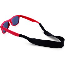 Cinta de soft shell para gafas grabada roja