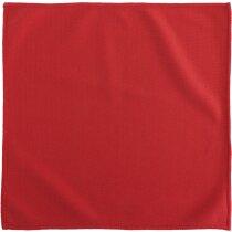 Paño limpiador de microfibra de colores personalizada roja