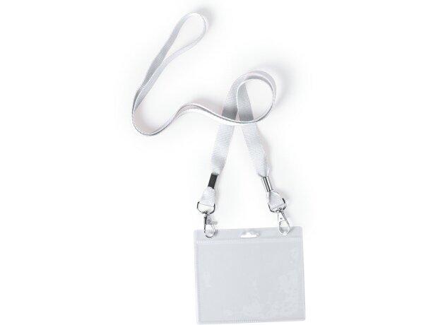 Identificador con cordón barato blanco