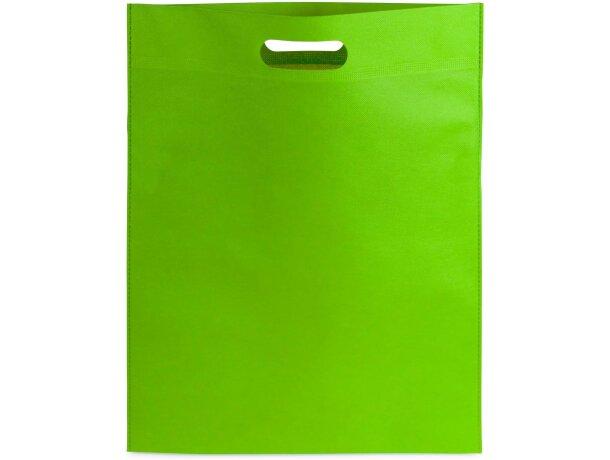 Bolsa non woven plana personalizada verde