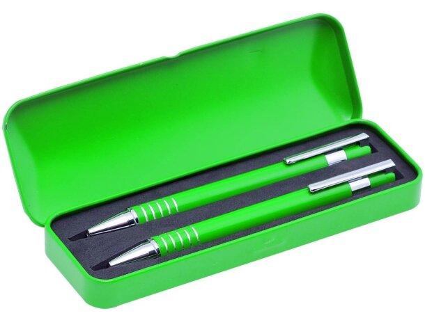 Estuche de bolígrafo y portaminas blanco personalizado