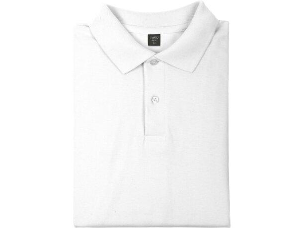 Polo manga corta unisex algodón 180 gr blanco barato