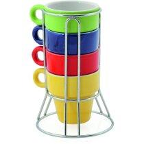 Set De Tazas De Ceramica De Colores Barata
