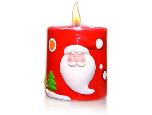 Porta velas de cerámica con motivos navideños barata