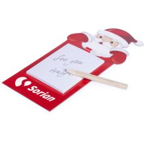 Imán de nevera con bloc de notas con motivos navideños personalizado