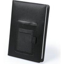 Bloc de notas polipiel 100 hojas negra
