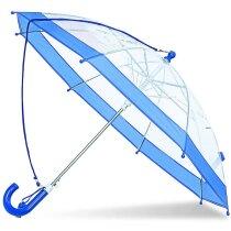 Paraguas de PVC con silbato personalizado azul