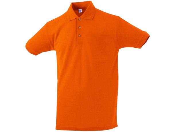 Polo manga corta tejido mixto de hombre 220 gr personalizado naranja