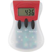 Podómetro para distancia y calorías personalizado rojo