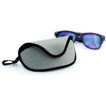 Funda de gafas de poliéster color negro y gris