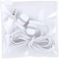 Cascos auriculares con conexión jack personalizado blanco