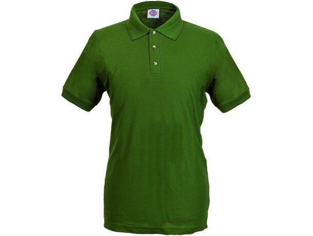 Polo manga corta tejido mixto de hombre 220 gr personalizado verde