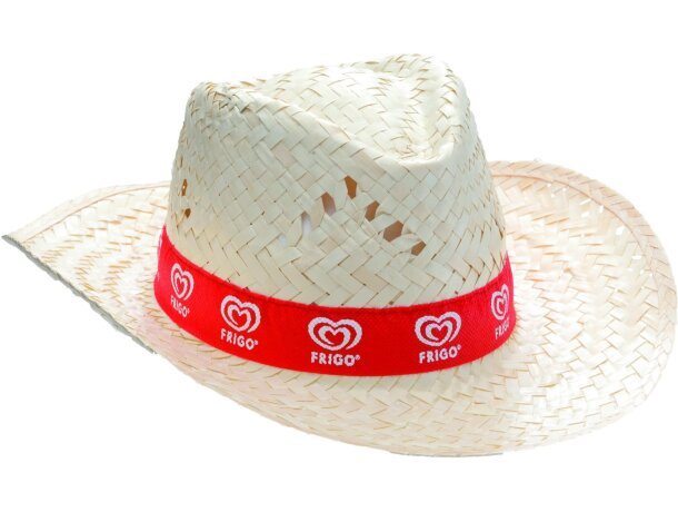 Sombrero de paja clarita personalizado