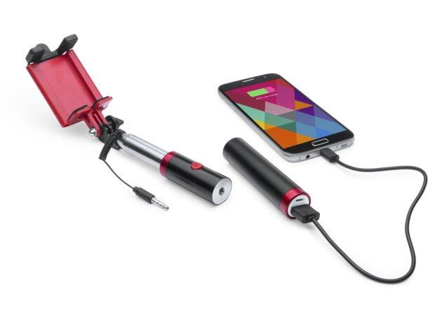 Palo selfie y power bank grabado