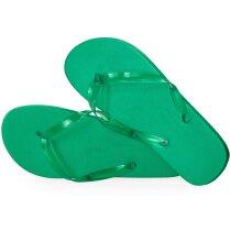 Chanclas de eva y pvc verde personalizado