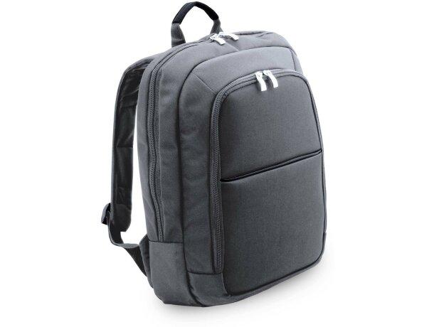 Mochila con bolsillo acolchado para portátil personalizada gris