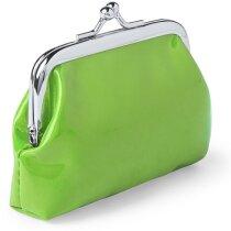 Monedero con cierre clic clac personalizado verde