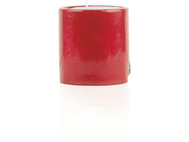 Porta velas de cerámica con  motivos navideños personalizada