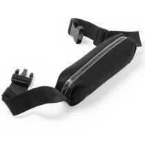 Riñonera para móvil con pantalla táctil negra