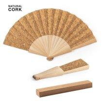 Abanico ecológico Kasol en madera y corcho