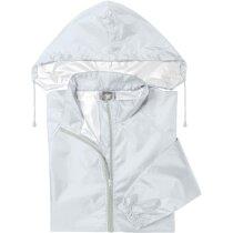 Impermeable con capucha ajustable barato blanco