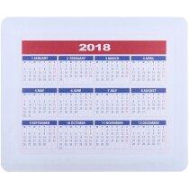 Alfombrilla con calendario en varios colores personalizada blanca