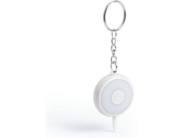 Llavero flash para móvil personalizado blanco