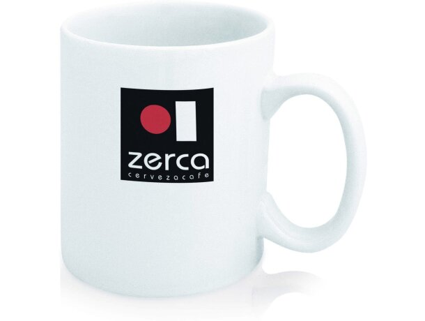 Taza de cerámica blanca básica para serigrafia personalizada