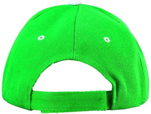 Gorra con detalles de color fabricada en poliester algodón grabada