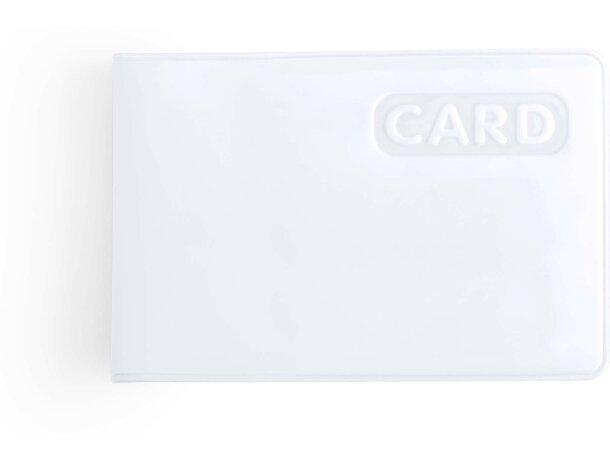 Tarjetero de plástico sencillo blanco barato