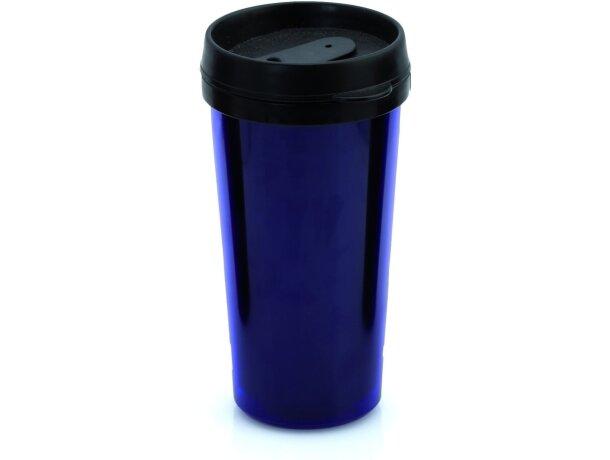 Vaso térmico de plástico con tapa de color